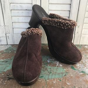 Cordani Calzature Clogs Mules Suede Sheepskin Shoe